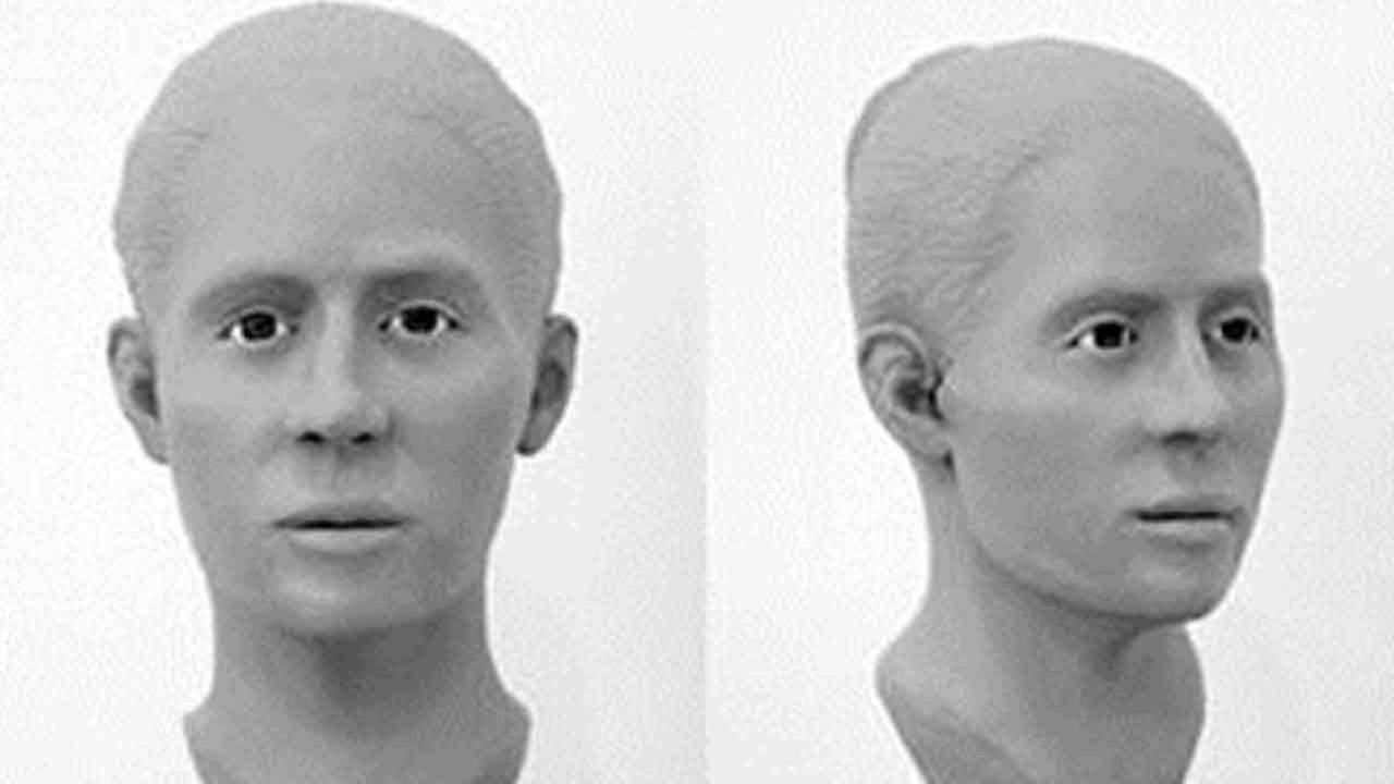 Facial reconstruction rendering photos released by the Orange County Sheriffs Department of a woman found dead in the Caspers Wilderness Park in 2014.