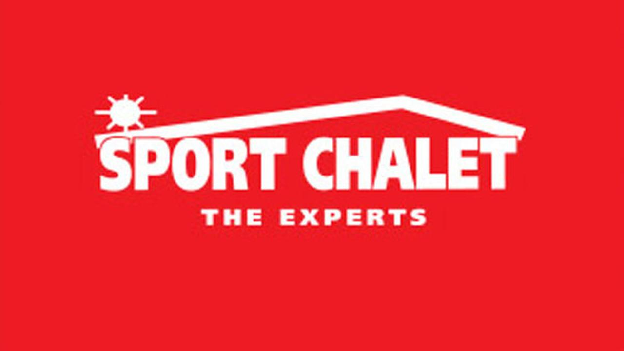The logo for sports equipment company Sport Chalet is shown above.