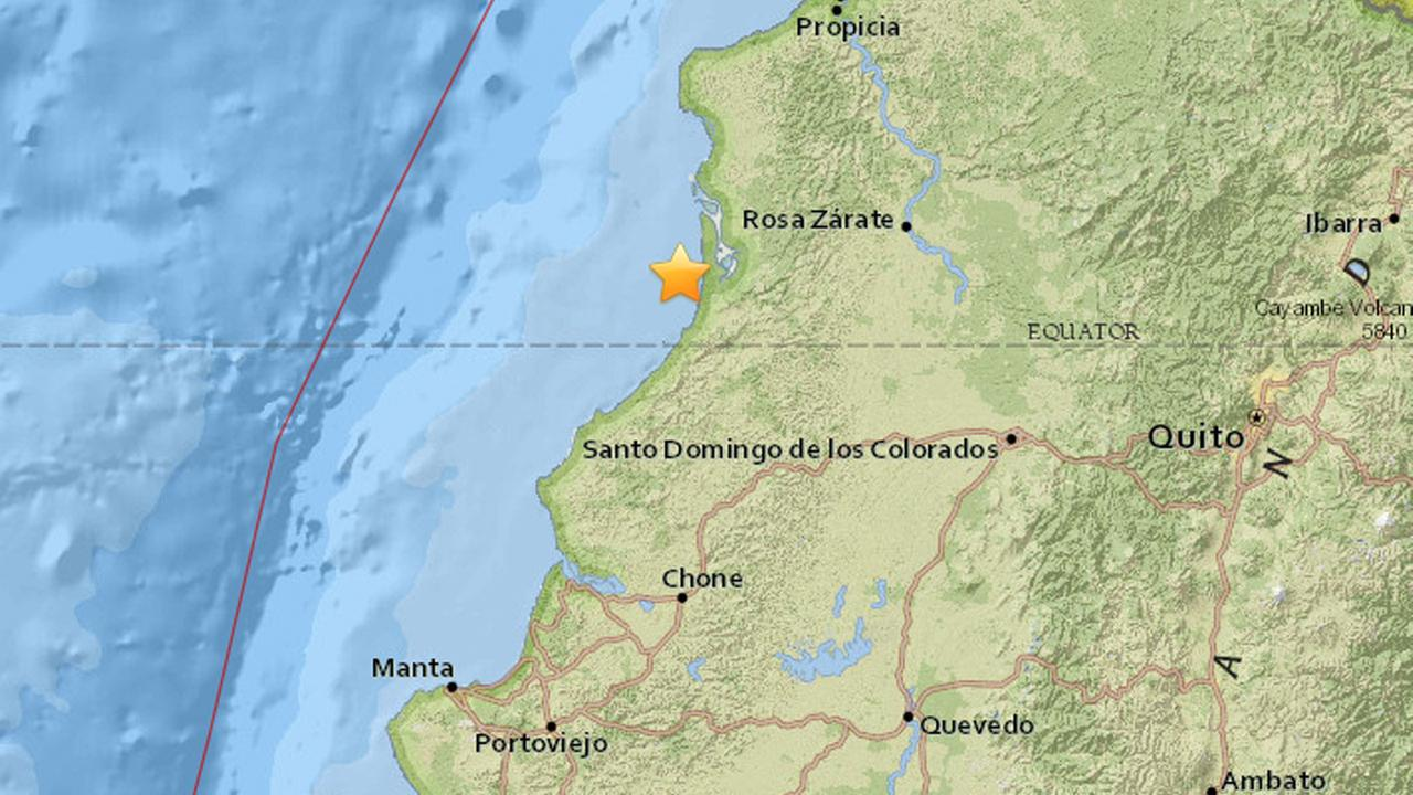 A 7.8 magnitude earthquake struck northwest of the coast of Ecuador.