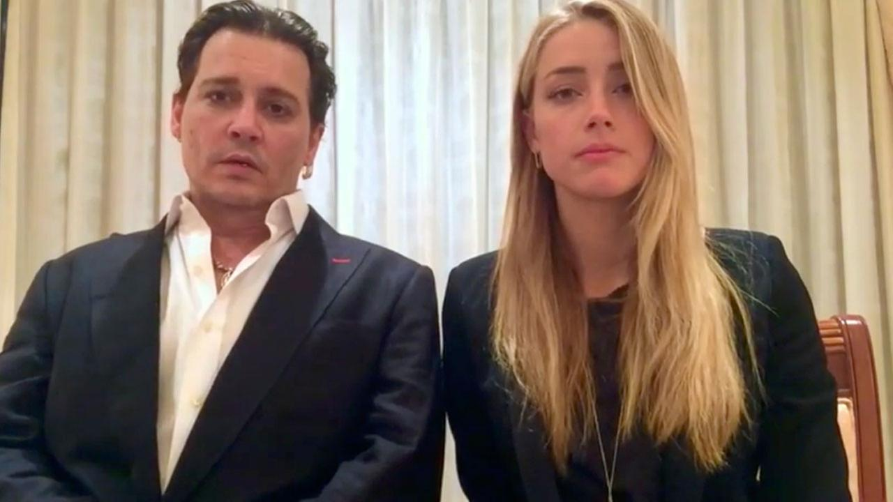 Johnny Depp and Amber Heard speak in a videotaped apology played during Mondays hearing at the Southport Magistrates Court on Queensland states Gold Coast.
