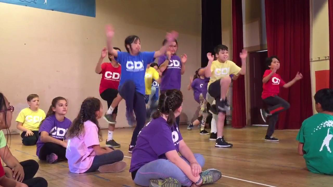 Students from Eagle Rock Elementary School participate in a dance program provided by the California Dance Institute.