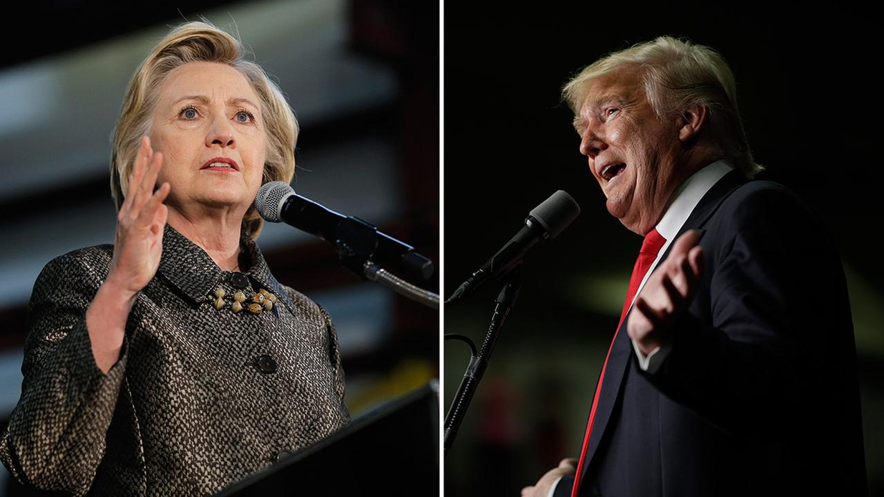Donald Trump won the Republican primaries in Pennsylvania, Maryland and Connecticut, while Hillary Clinton won the Democratic primary in Maryland on Tuesday, April 26, 2016.