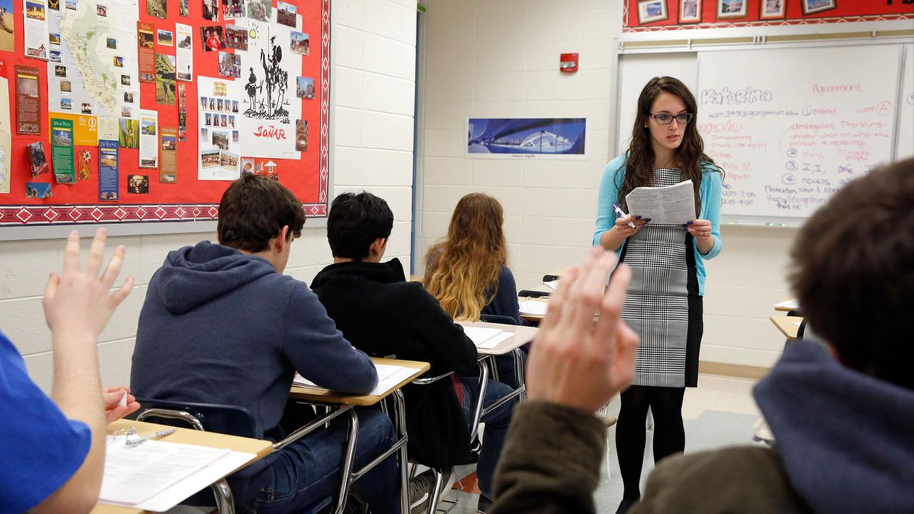 The nations high school seniors are slipping in math and failing to make progress in reading, with just one-third of the 12th graders ready for the academic challenges of college.