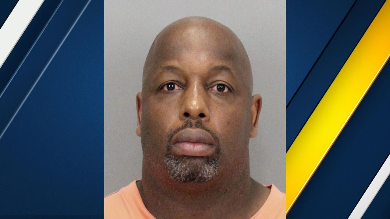 In this undated booking photo released by the Santa Clara County District Attorney is former NFL football player Dana Stubblefield.