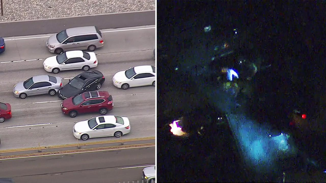 A multi-county chase for a suspect wanted for attempted murder ended after an hours-long standoff on the 91 Freeway in the Corona area on Thursday, May 5, 2016.
