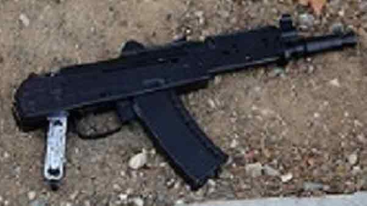An airsoft replica assault rifle found on a man fatally shot by police in Long Beach on Saturday, May 7, 2016.
