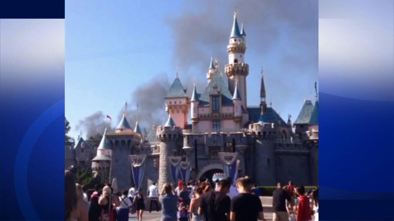 A fire broke out at Disneyland in Anaheim, California on Sunday, June 22, 2014.
