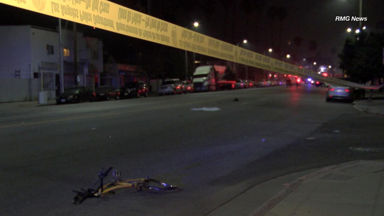 A bicyclist was struck and killed at a deadly intersection on Figueroa Street in Highland Park in June 2015.