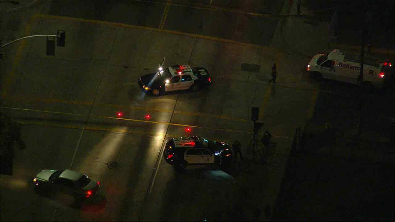 LAPD officers respond to the scene of an officer-involved shooting in Boyle Heights on Friday, May 13, 2016.