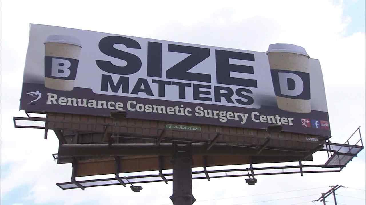 A billboard in Murrieta, Calif., meant to advertise breast augmentation and is sparking controversy.