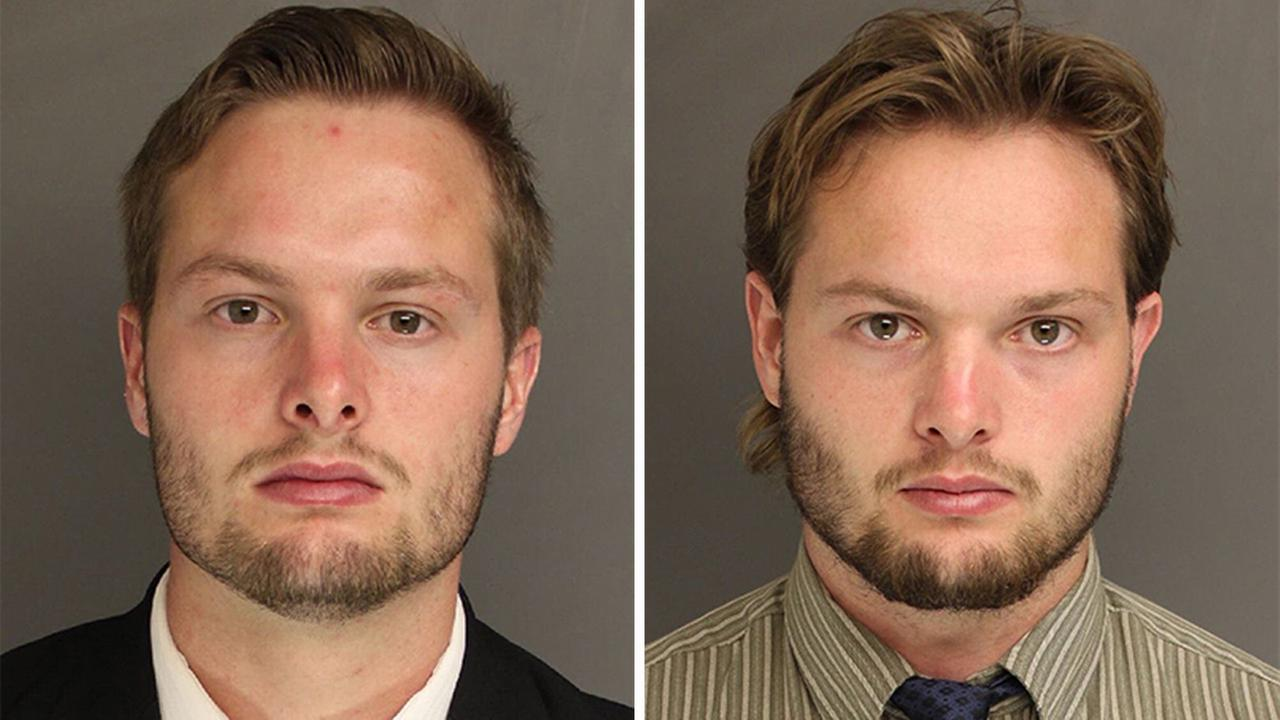 Daniel Tate (left) and Caleb Tate (right) were charged after officials said they set off a series of bombs in Chester County, Pennsylvania.