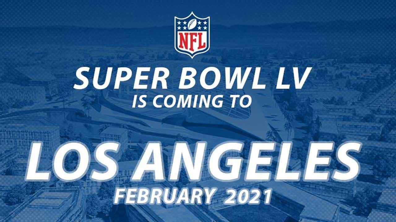 The NFL announced that Super Bowl LV will take place in Los Angeles in 2021.