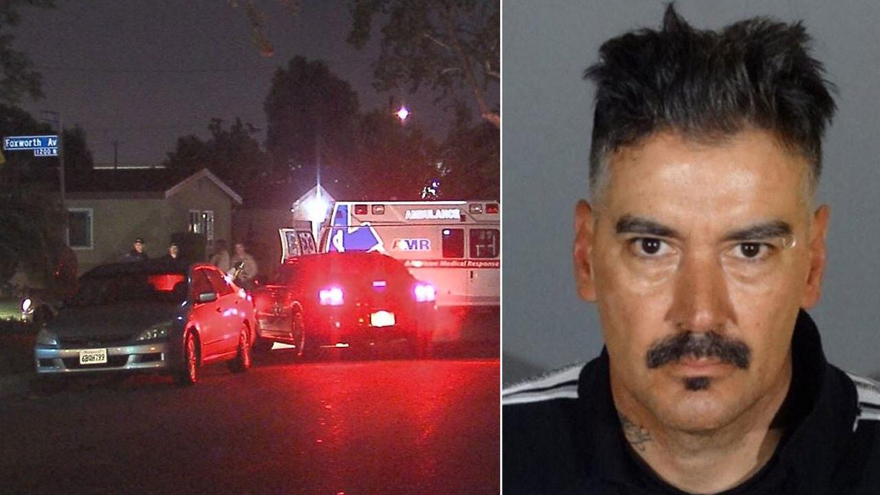Jose Luis Chavez, 47, shown on the right, was arrested at a home in La Puenta, shown on the left.