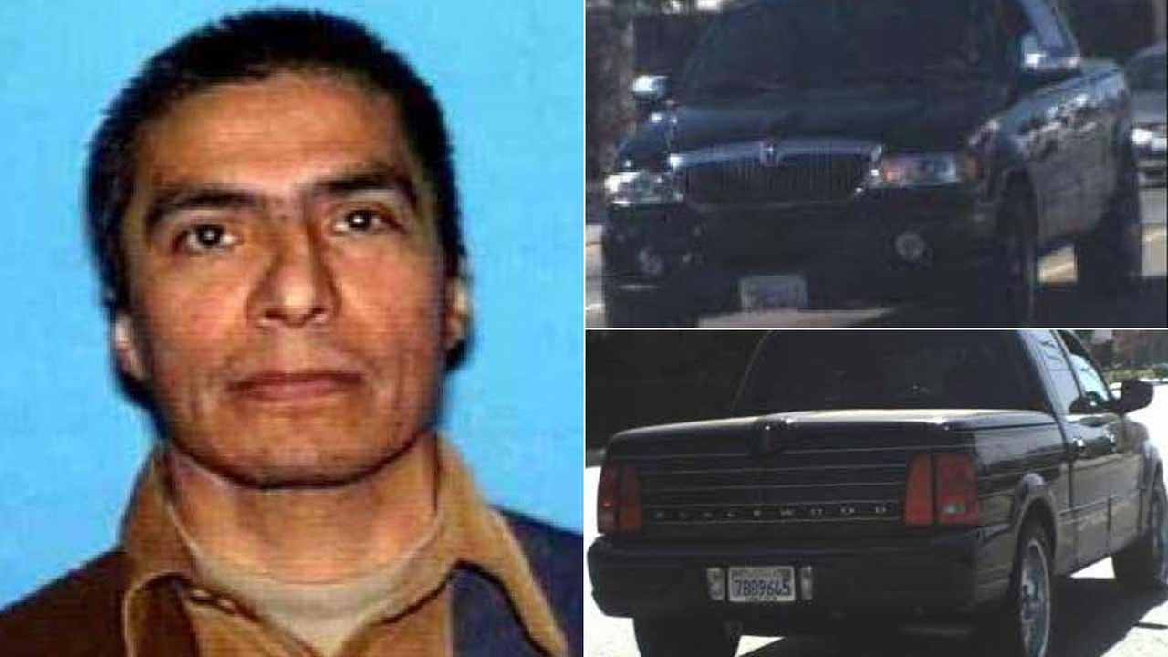 Gonzalo Lopez, 52, and his vehicle are seen in undated photos provided by the Los Angeles County Sheriffs Department.