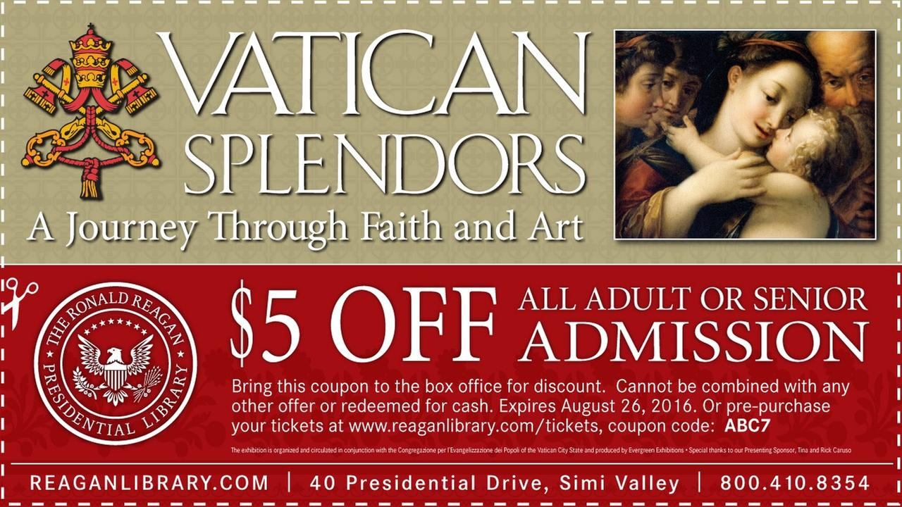 Vatican Splendors exhibit at the Reagan Library