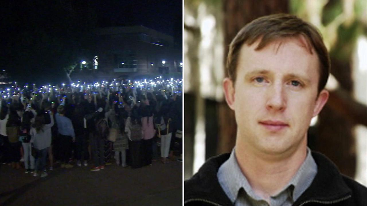 A vigil was held for UCLA Professor William Klug, who was killed in a murder-suicide on the schools campus.