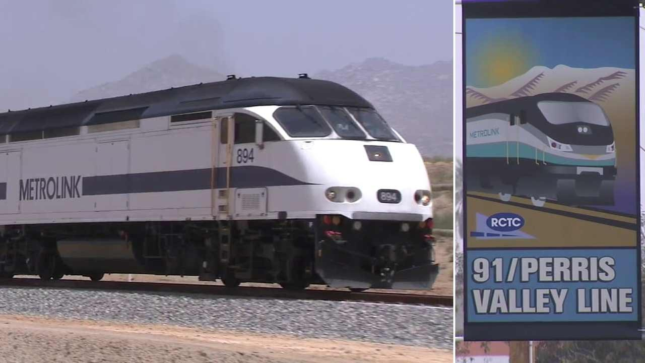 A Metrolink train is seen in this undated file photo.
