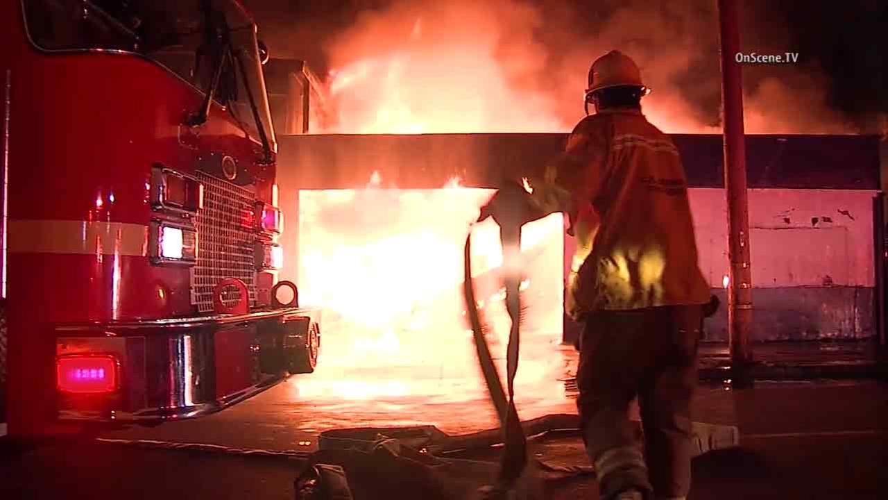 LA County warehouse fire knocks out power to thousands