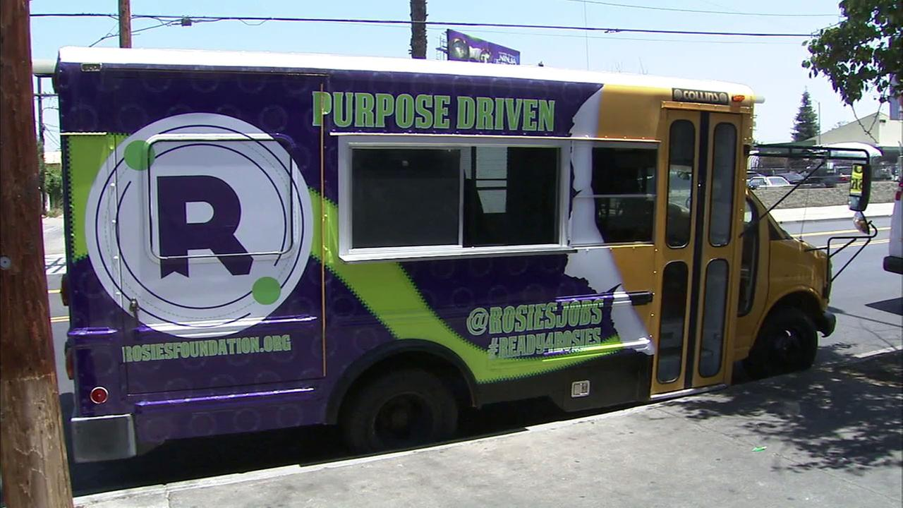 Rosies Foundation is converting a school bus to a handicapped-accessible food truck.
