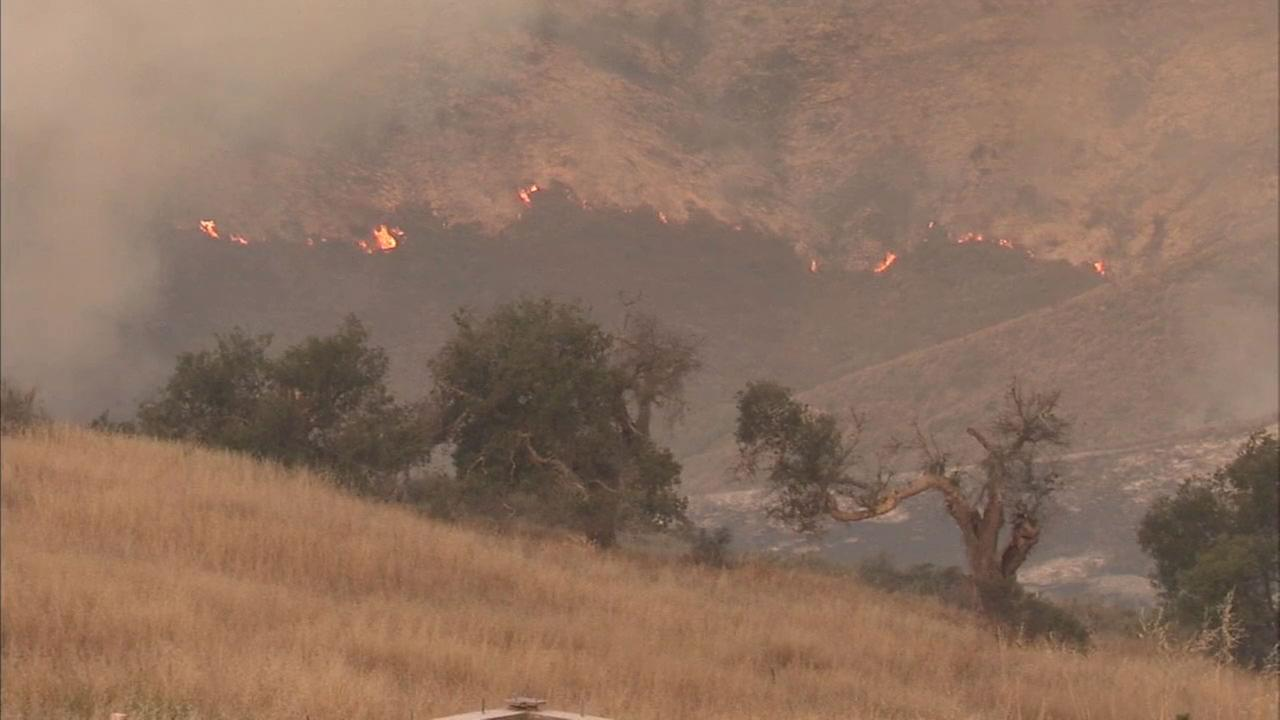 A red-flag fire warning has been issued for mountain areas of Los Angeles, Ventura and Santa Barbara counties.