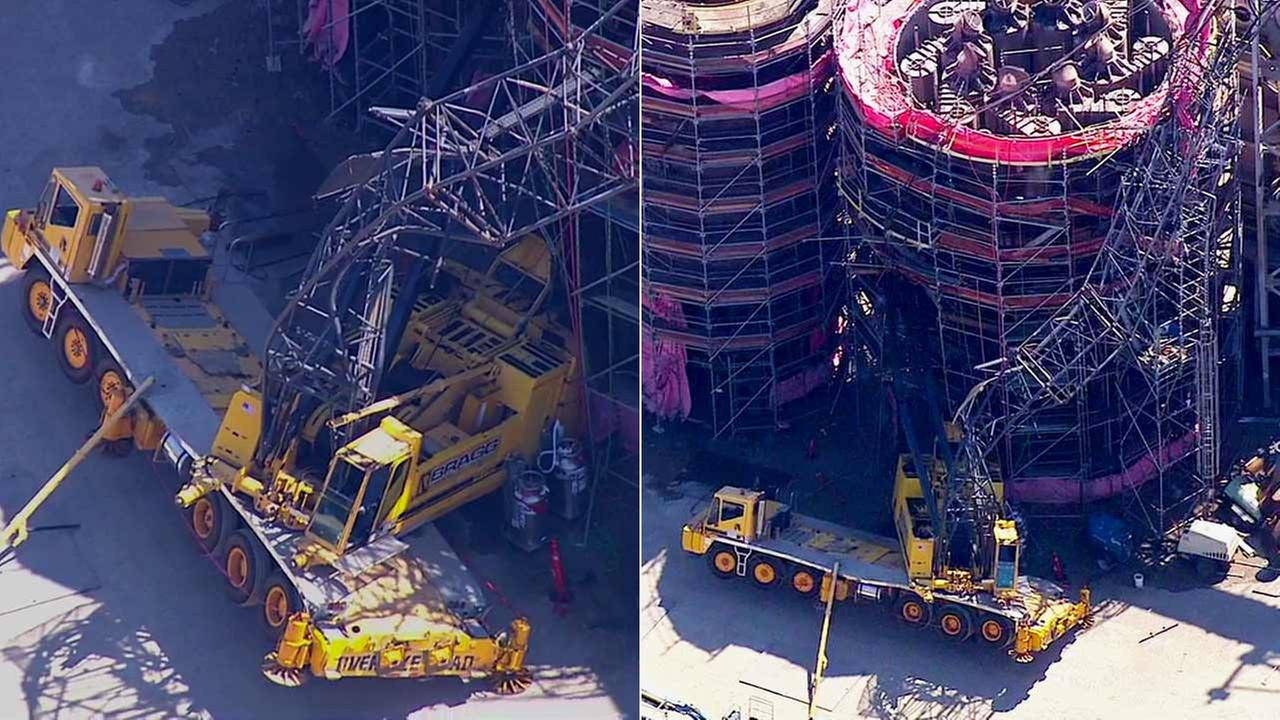 Giant crane collapse at Exxon Mobil refinery: Three hurt in Torrance