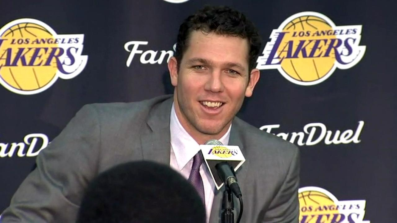 The Los Angeles Lakers introduce Luke Walton as the franchises 26th head coach on Tuesday, June 21, 2016.