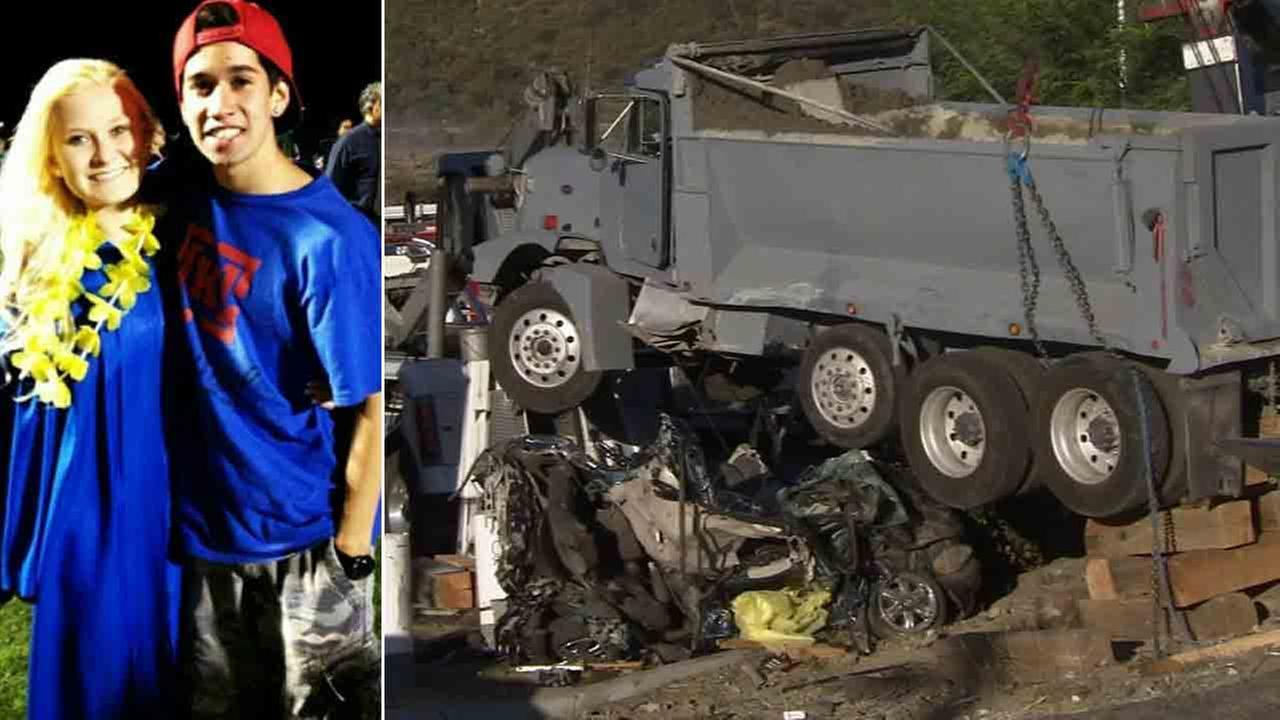 Runaway Car Crashes In California