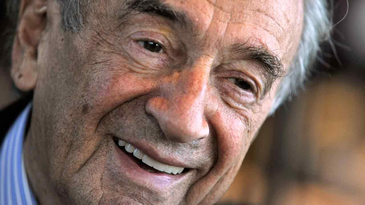 Elie Wiesel, Holocaust survivor and Nobel Peace Prize winning author, is seen during an interview with The Associated Press in Budapest, Hungary.
