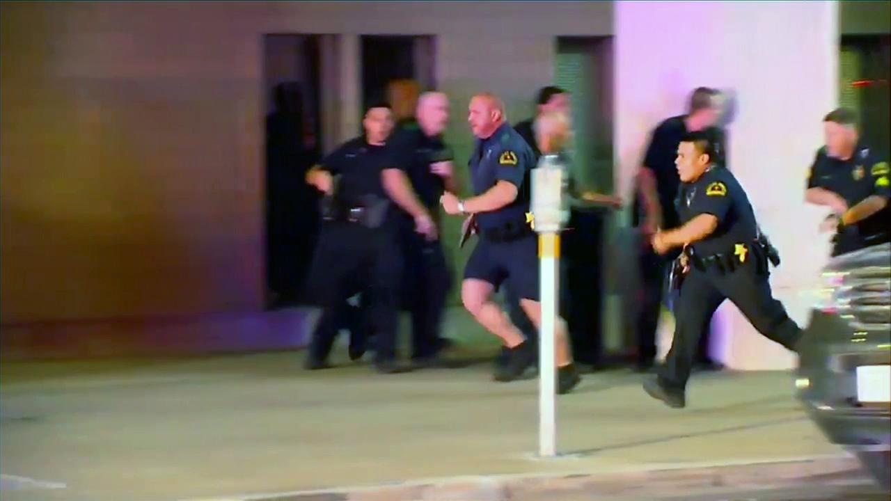 Multiple officers were shot and killed after officials said snipers opened fire during a protest in downtown Dallas on Thursday, July 7, 2016.