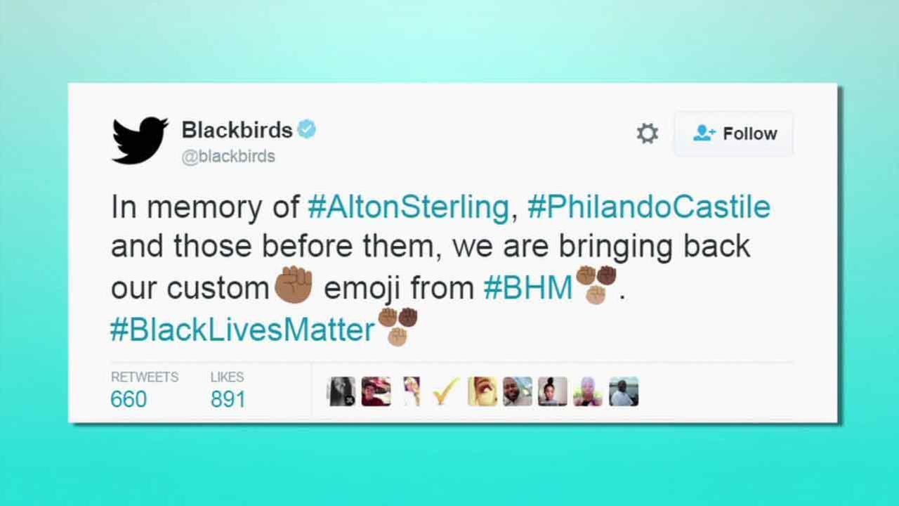 On Friday, July 8, 2016, the Black Lives Matter emoji started appearing at the end of the hashtag #blacklivesmatter on Twitter.