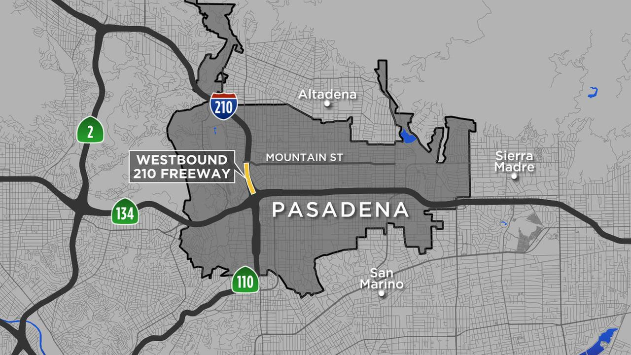 All Lanes On Stretch Of  Freeway In Pasadena Closed For Road - Los angeles freeway map traffic