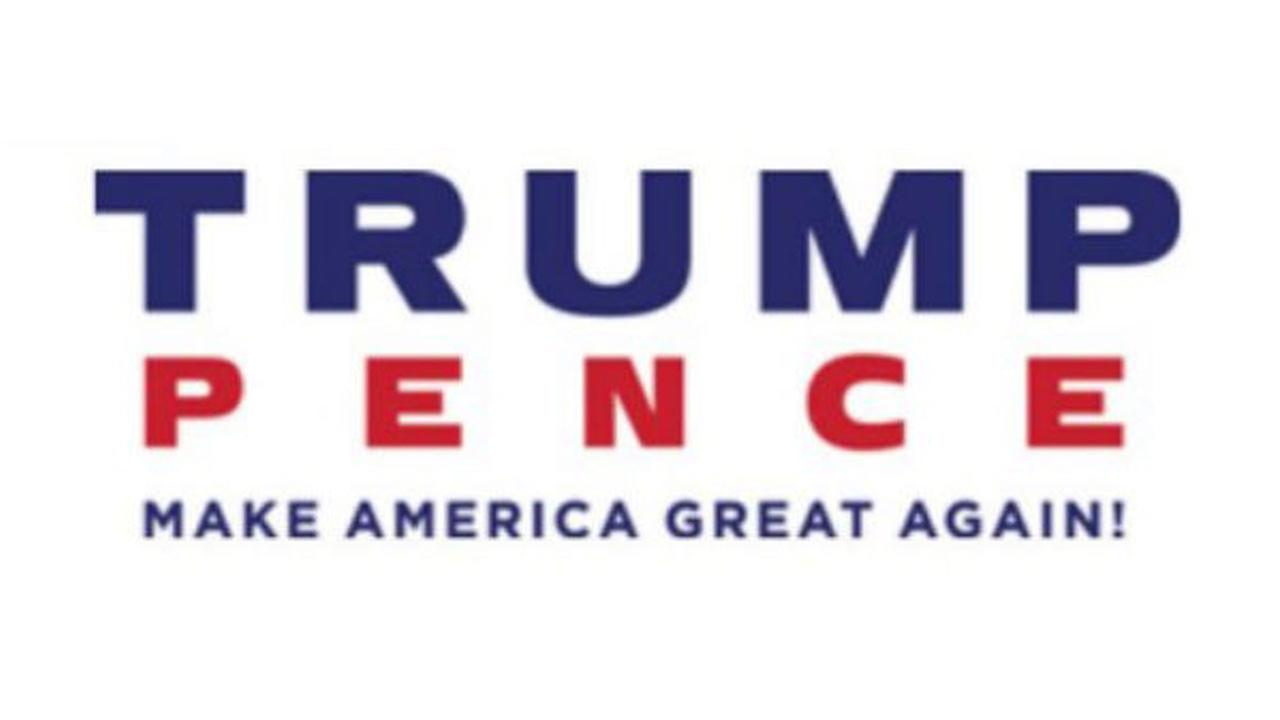 Donald Trump and Mike Pence released a new campaign logo Saturday, July 16, 2016, just one day after the original concept was panned on social media.