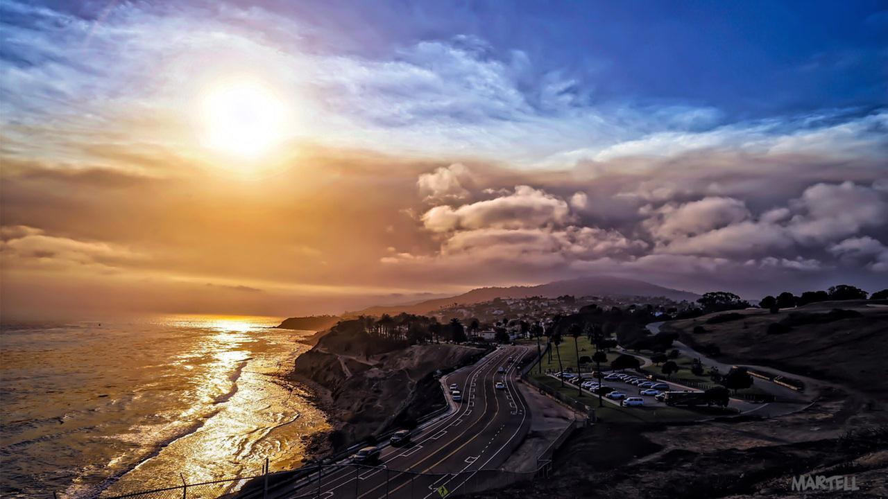 Martell Armando sent a photo of the Sand Fire taken in San Pedro using the ABC7 app.Martell Armando