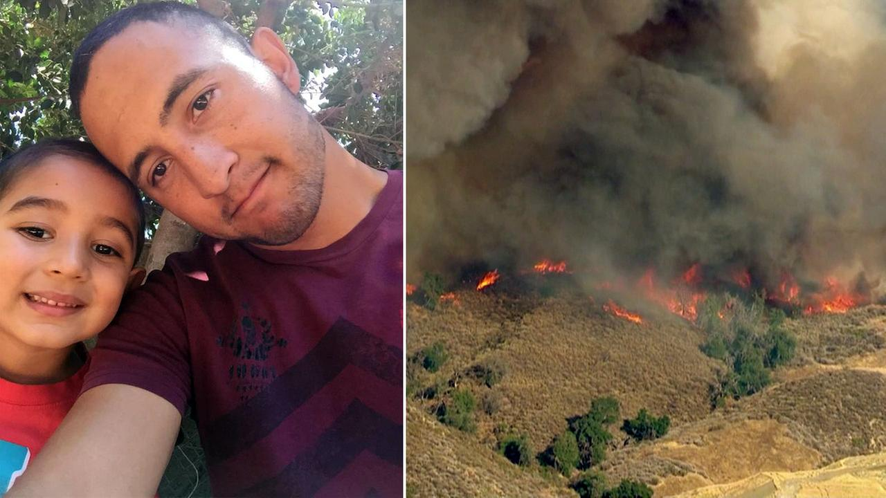 U.S. Forest Service firefighter Sergio Toscanos home was destroyed in the Sand Fire in Santa Clarita.