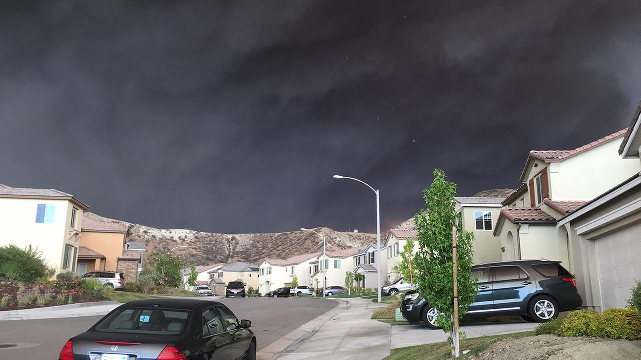 Photo taken from Fair Oaks Ranch on Saturday, July 23, 2016. ABC7 Eyewitness News viewer Jo Barcega sent this picture via the ABC7 app.Jo Barcega