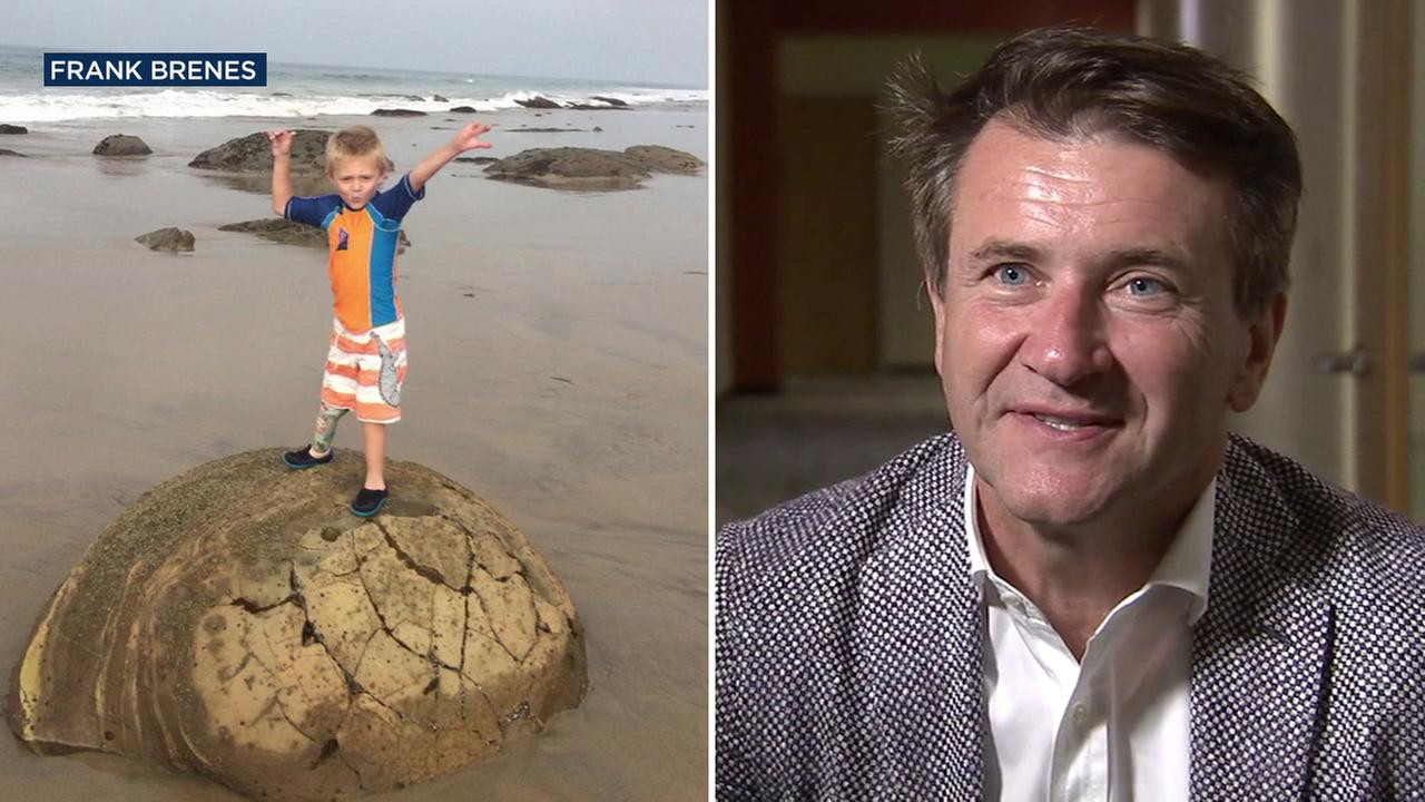 Shark Tank star Robert Herjavec (right), has offered to buy a new prosthetic leg for Liam  Brenes (left), who had his stolen from an Orange County beach on Sunday, July 24, 2016.