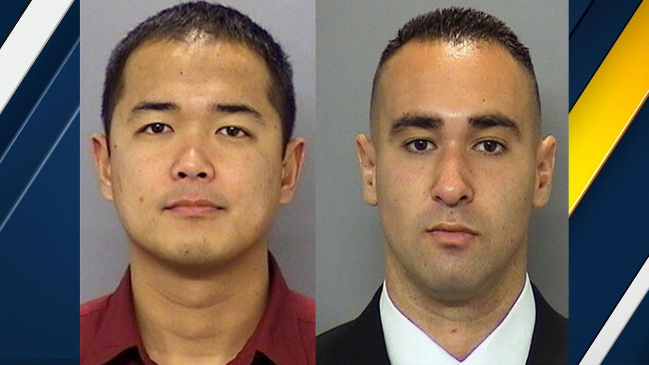 San Diego police Officer Jonathan DeGuzman (left) and Officer Wade Irwin are shown in undated photos.