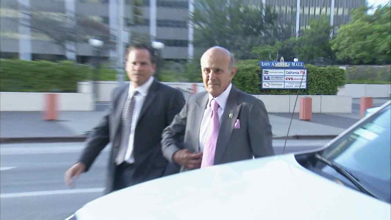 Former Los Angeles County Sheriff Lee Baca arrives at a downtown Los Angeles court on Monday, Aug. 1, 2016.