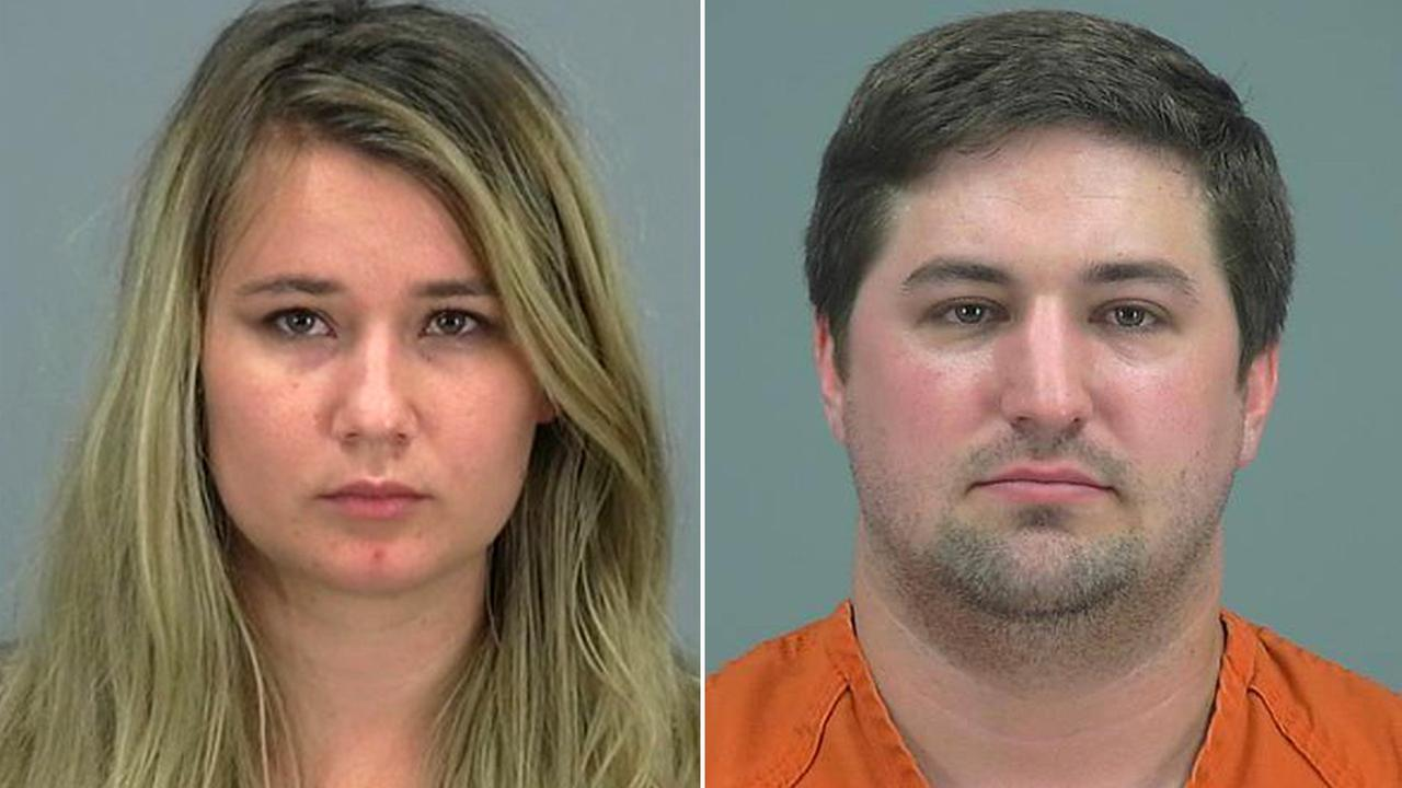 Brianne Daley (left) and Brent Daley (right) were arrested after authorities said the couple abandoned their toddler to go play Pokemon Go in San Tan Valley, Ariz.