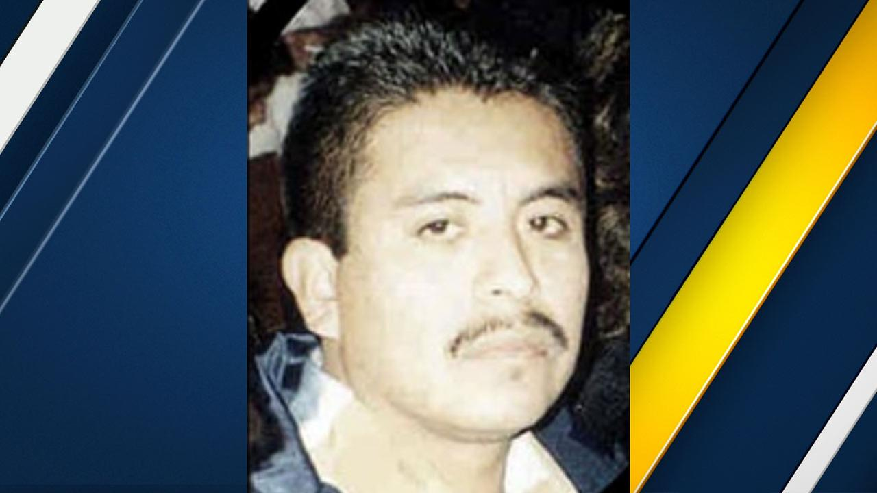Samuel Calvario is seen on the LAPD website in the most wanted section.