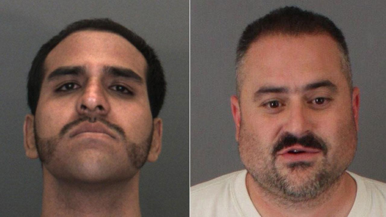 Inland Empire federal mail-theft suspects Hubert Salvador Salazar Jr., (left) and Michael Joseph Tomassacci are considered fugitives.