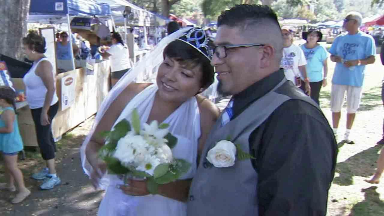 Alma Fragoso, a 31-year-old cervical cancer survivor who is now fighting stage 4 colon cancer, got the wedding of her dreams Saturday, June 28, 2014.