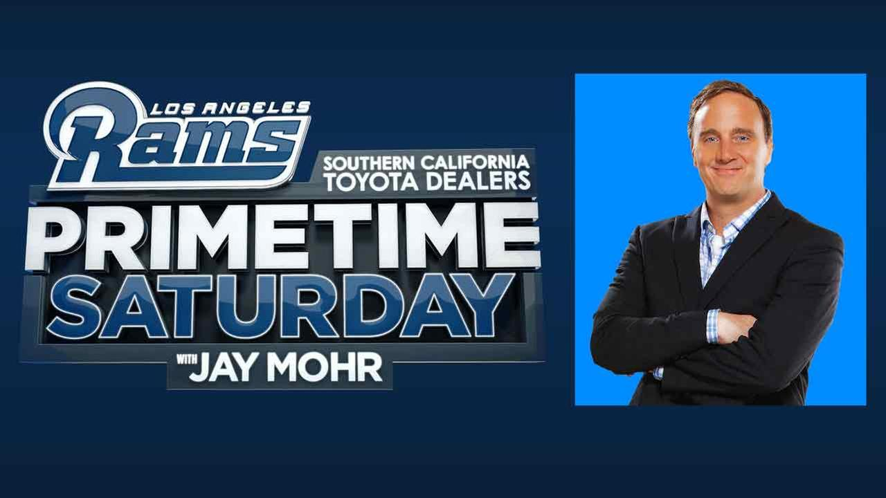 Jay Mohr, comedian, actor and sports host of Rams Primetime Saturday with Jay Mohr on ABC7.