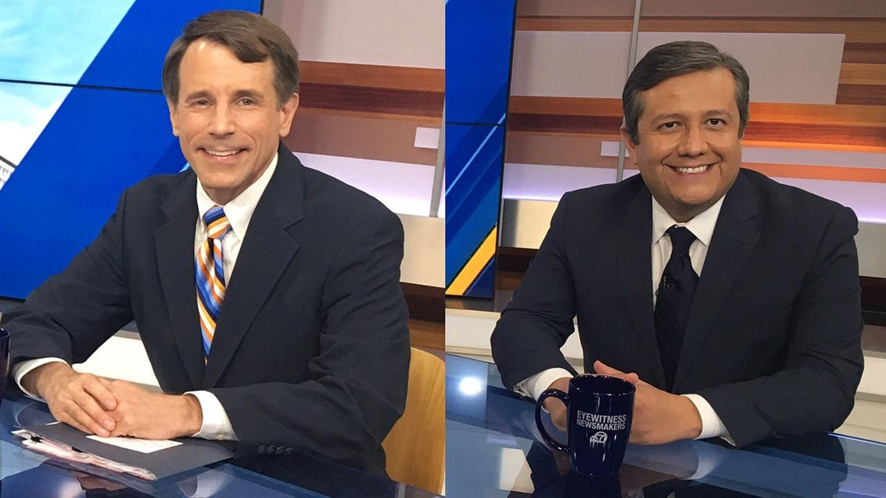 California Insurance Commissioner Dave Jones (left) and Los Angeles City Administrative Officer Miguel Santana were the guests on this weeks Eyewitness Newsmakers.