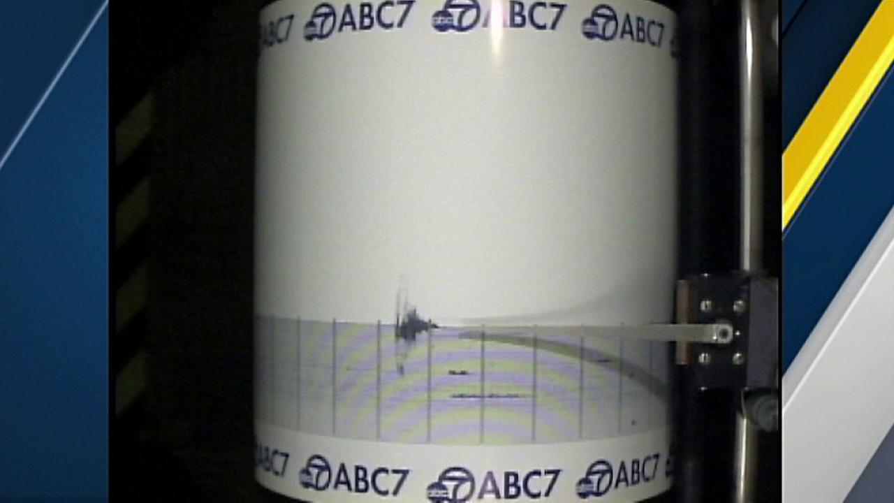The ABC7 Quake Cam captured a 3.0-magnitude earthquake that struck near Yorba Linda and Placentia just after midnight on Tuesday, Aug. 16, 2016.