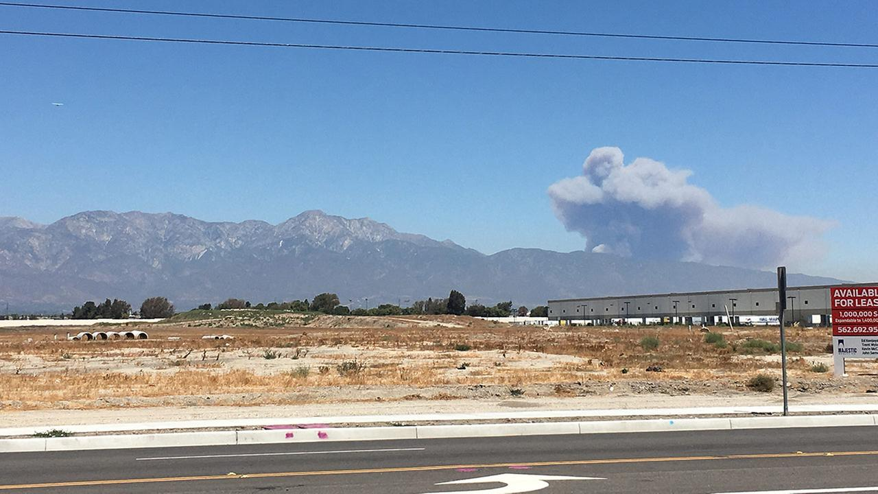 Photo taken of the Blue Cut Fire in the San Bernardino National Forest from Chino, California, on Tuesday, Aug. 16, 2016.Marvin Martinez
