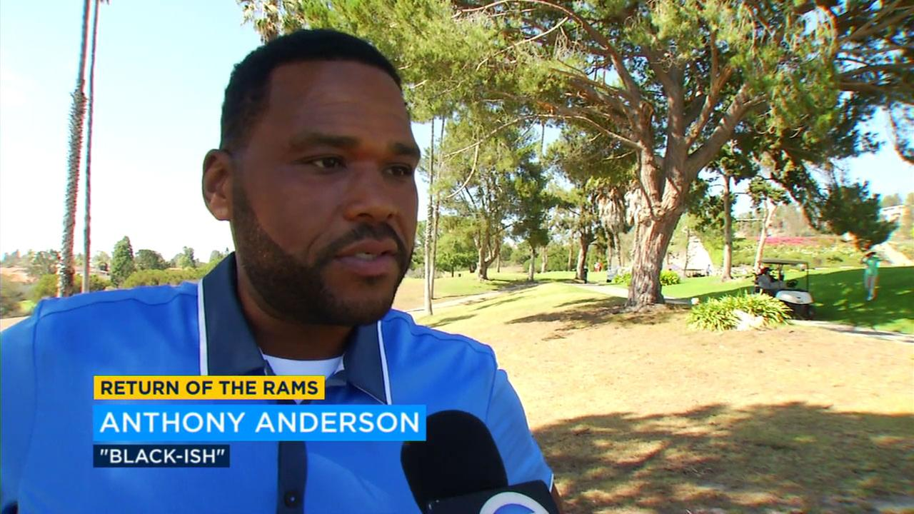 Anthony Anderson is welcoming the Rams and the National Football League back to Los Angeles.
