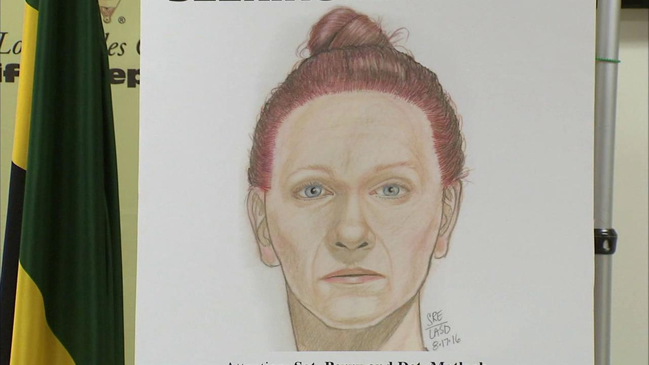 A police sketch shows what a woman whose body was found in a remote area of Lebec on Sunday, Aug. 14. 2016, may have looked like.
