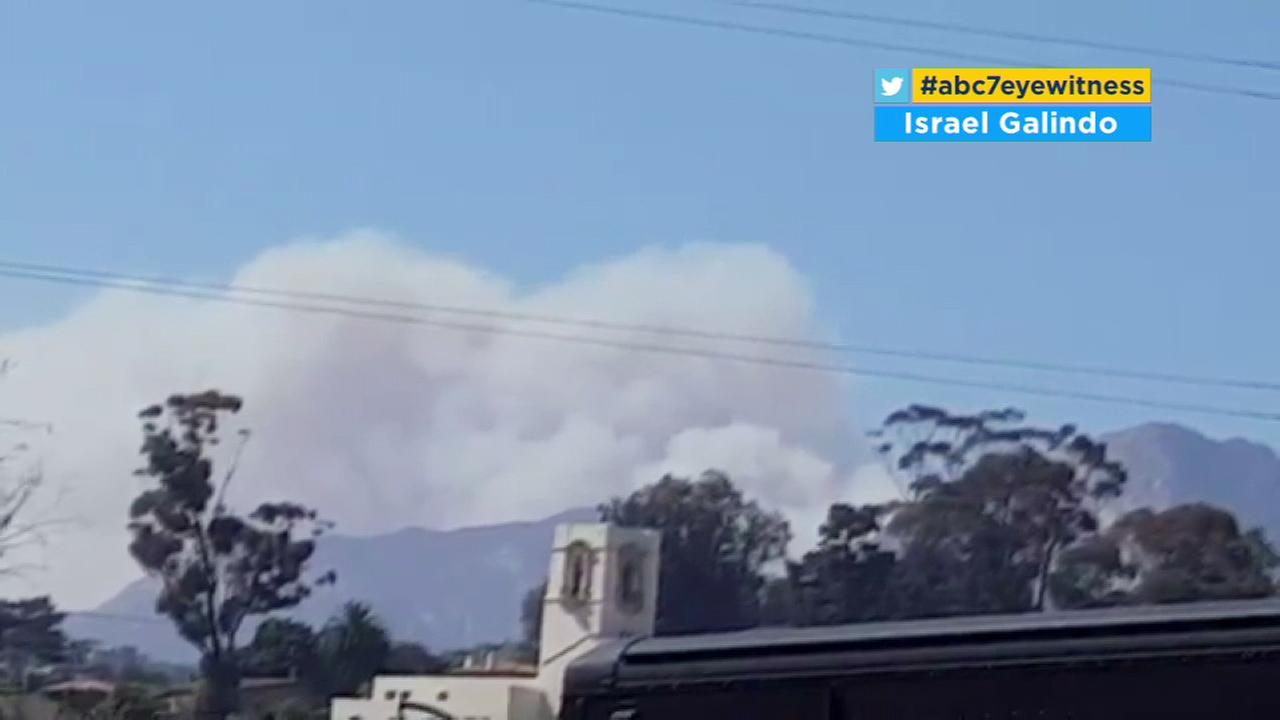 The Rey Fire sparked in the Los Padres National Forest on Thursday, Aug. 18, 2016.