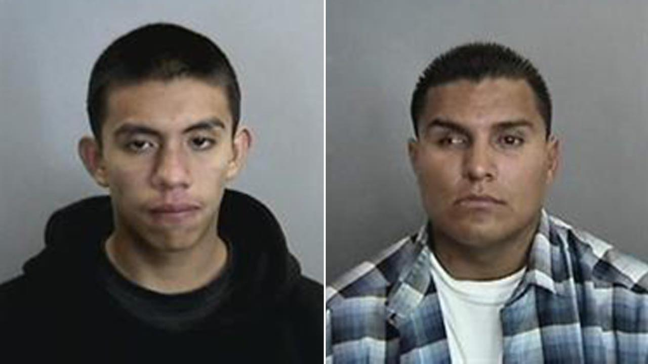 Alan-Osvaldo Reza-Palamino, 20, and Frank Velasquez, 25, are seen in photos from Anaheim police.